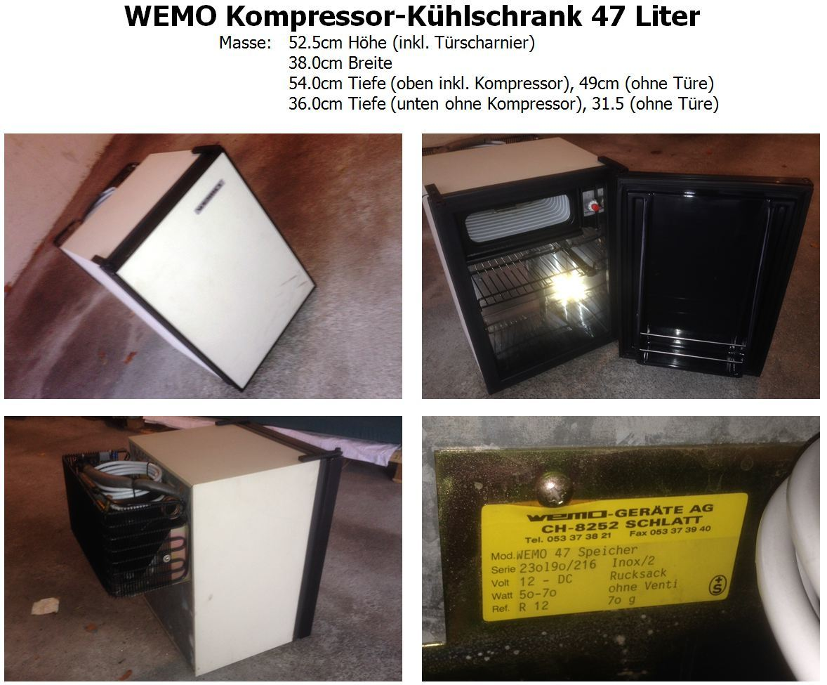 WEMO Kompressor-Kühlschrank 47 Liter - Biete - VWBUSFORUM.CH