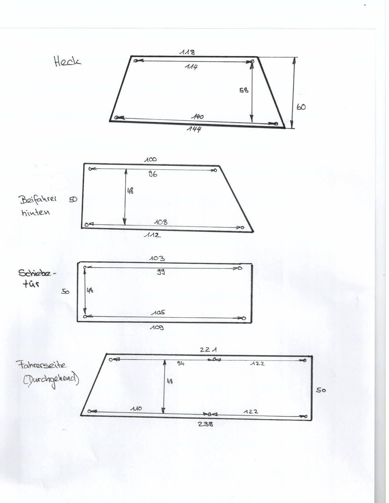 T3 Länge und Breite der Vorhänge, Gardinen   Interieur   VWBUSFORUM.CH