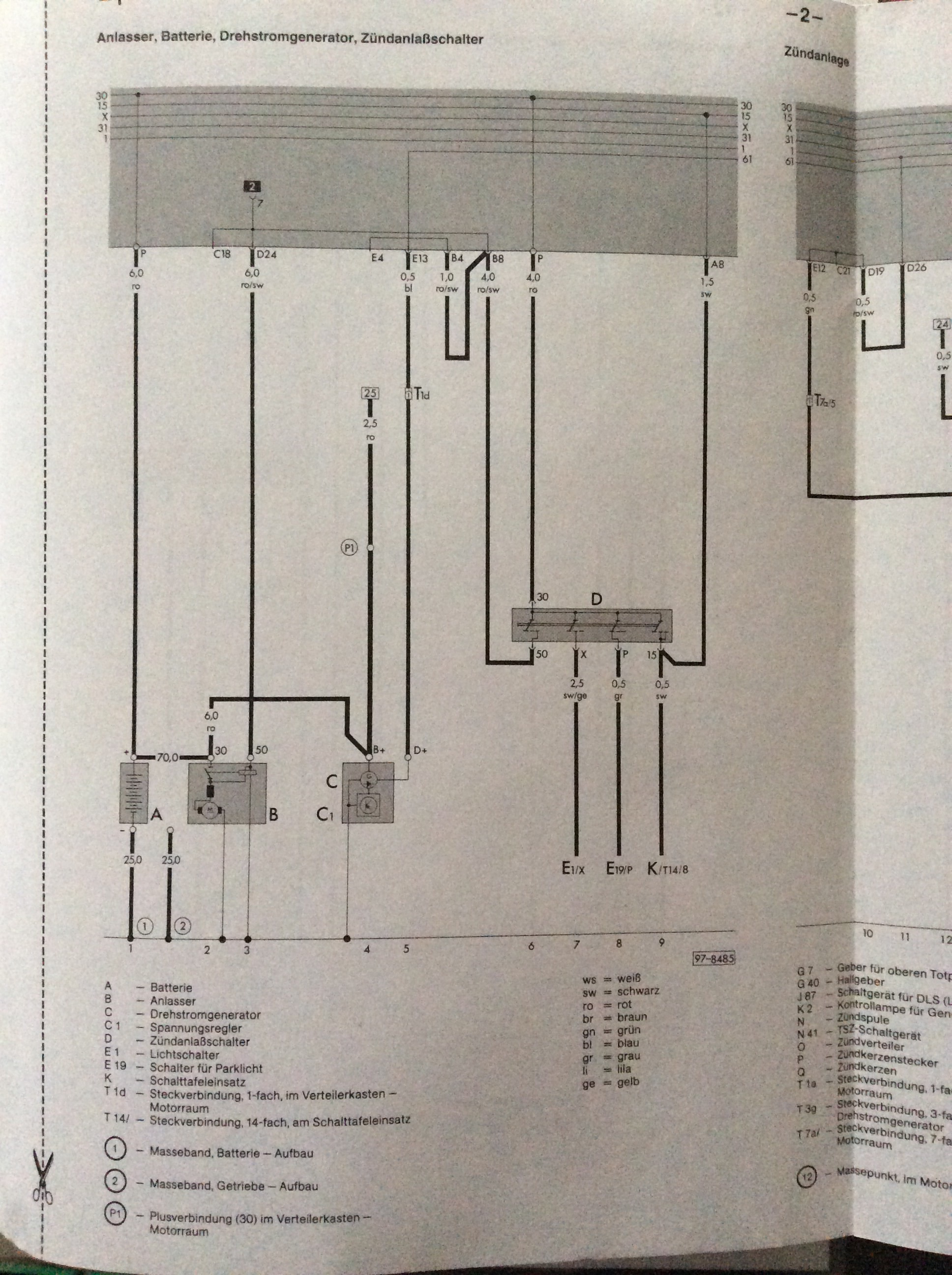 Stromlaufplan T3 Bj.1988 GESUCHT - Elektronik & Car Hifi - VWBUSFORUM.CH