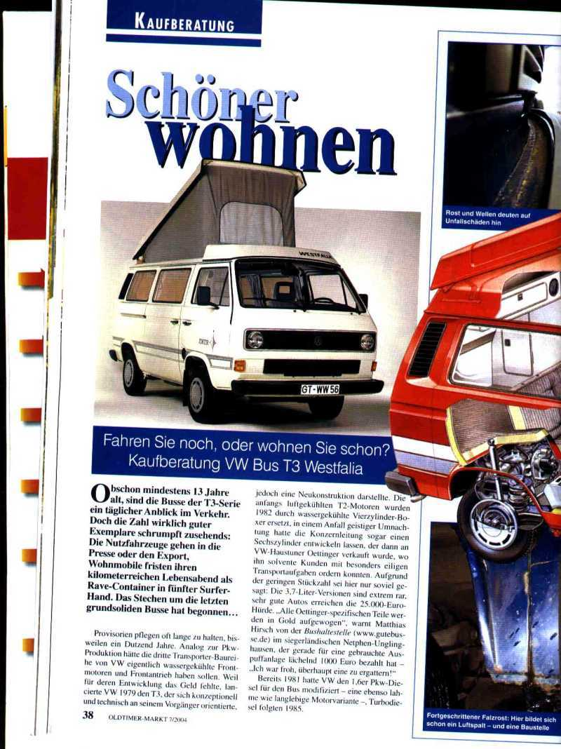 Kaufberatungen VW Bus 1979 - 1992 - Workshop - VWBUSFORUM.CH
